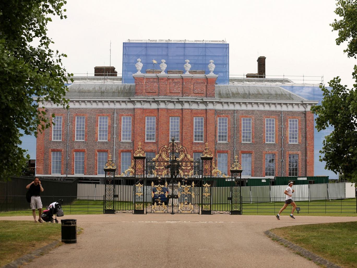 The building wrap around Kensington palace as renovations take place
