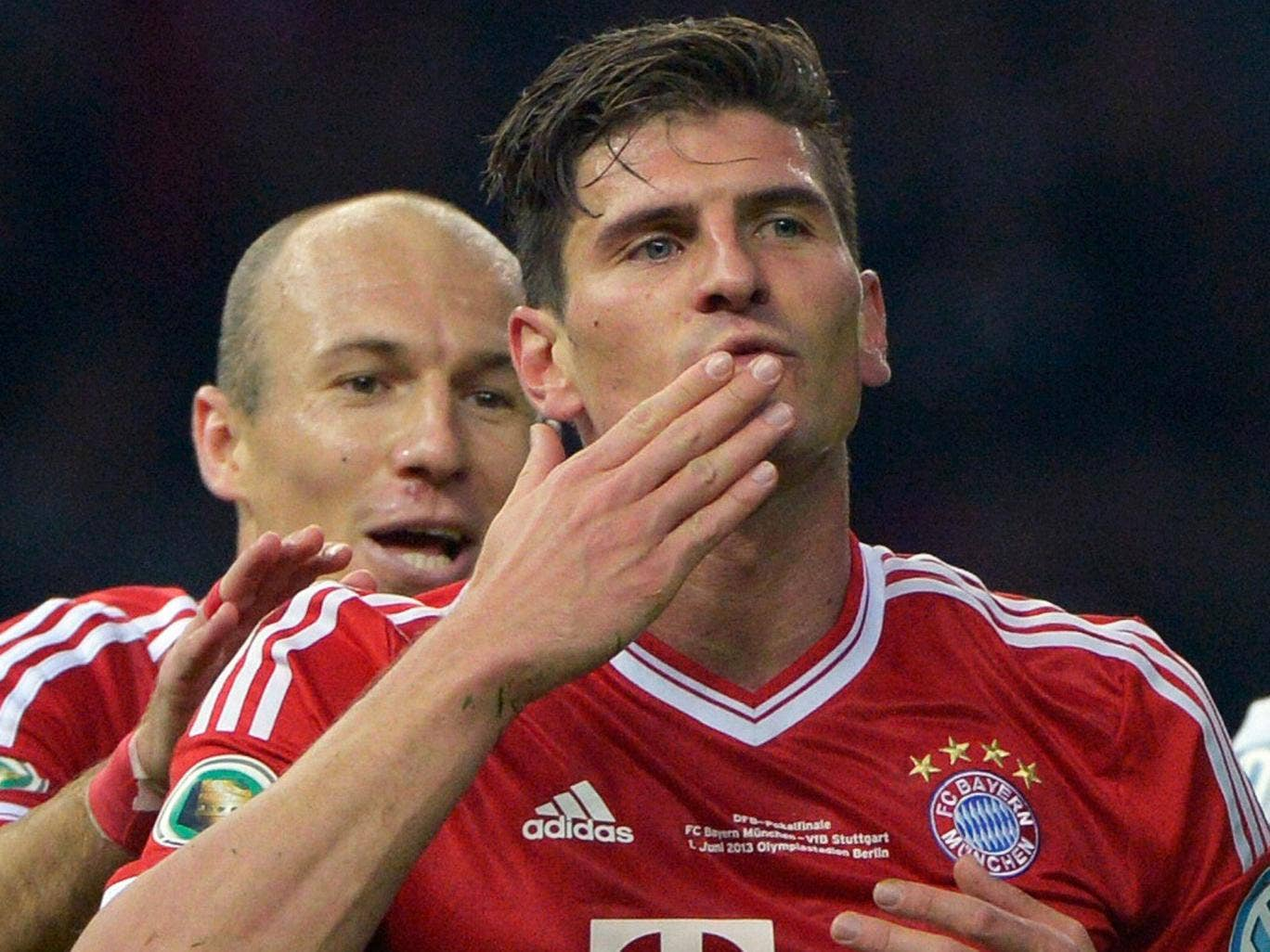 Mario Gomez: one of four targets City wants to replace Tevez