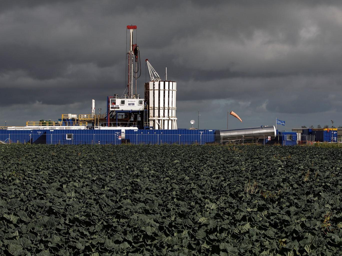 The Cuadrilla shale fracking facility in Preston, Lancashire