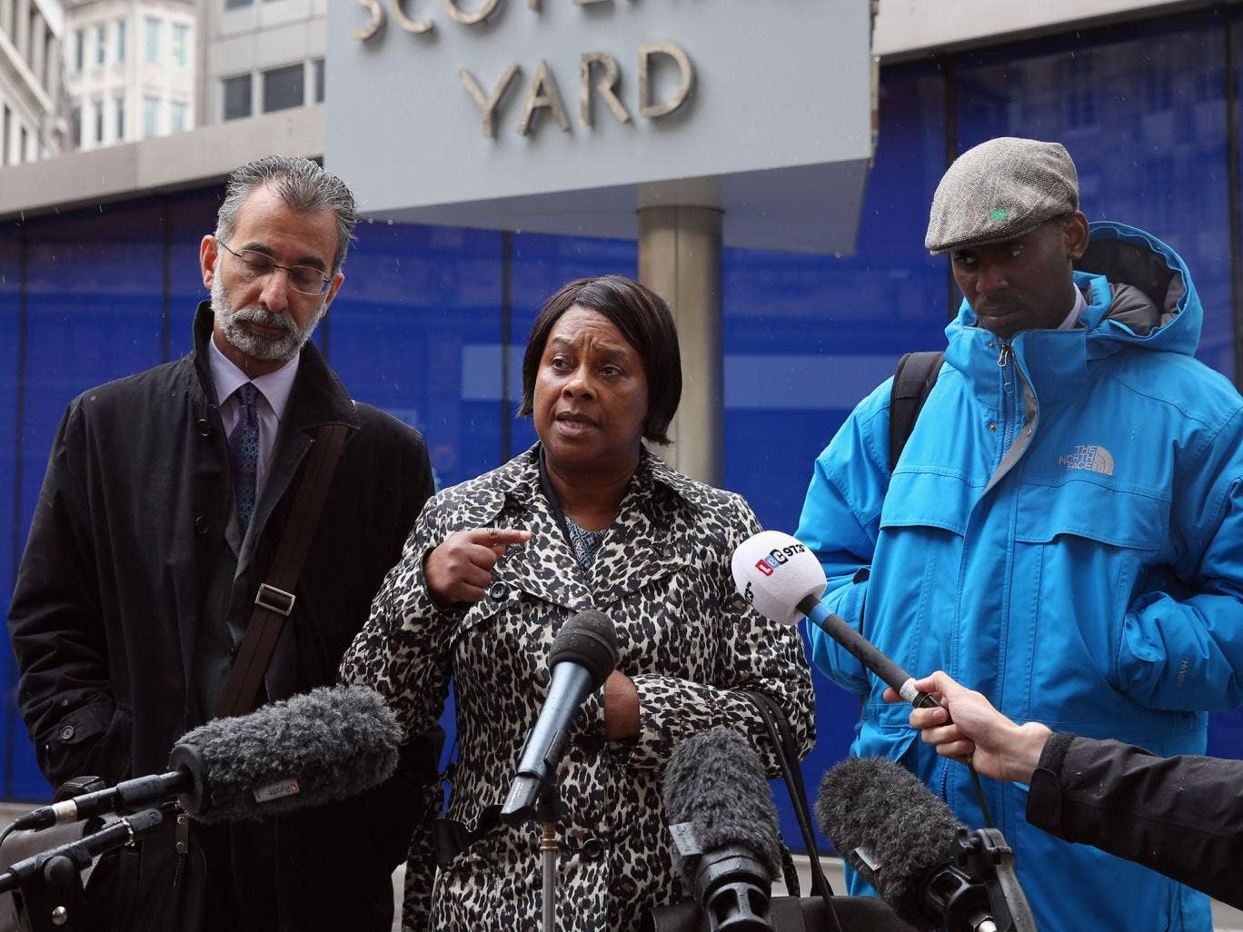 Doreen Lawrence speaking at Scotland Yard last week