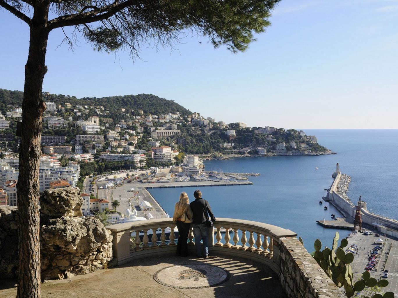 Bay watch: The view of Nice's harbour from the Colline du Château
