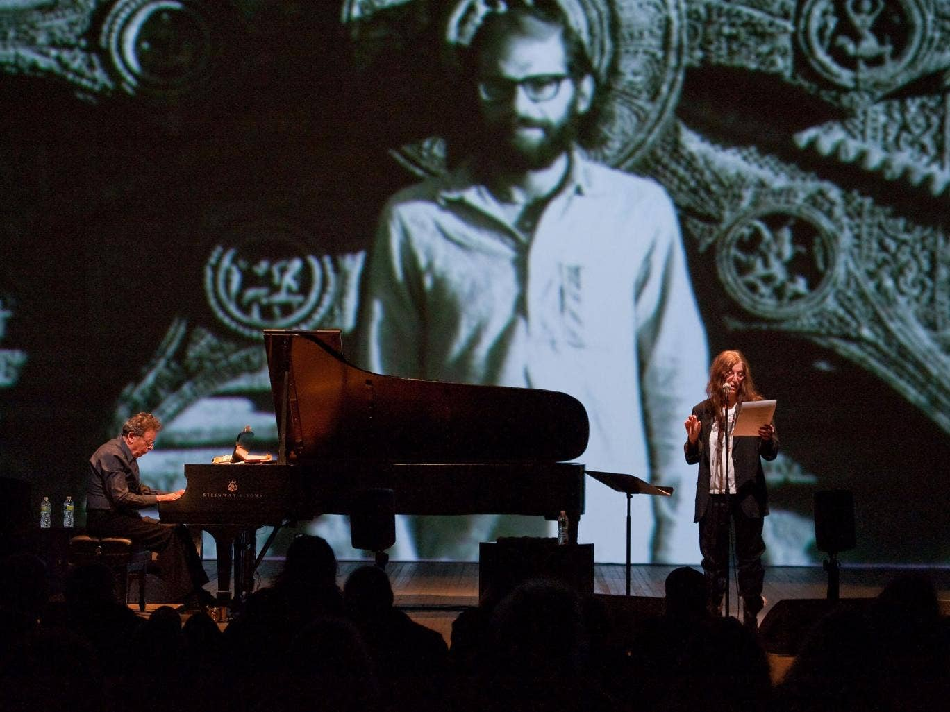 The beat goes on: Philip Glass and Patti Smith pay tribute to poet Allen Ginsberg