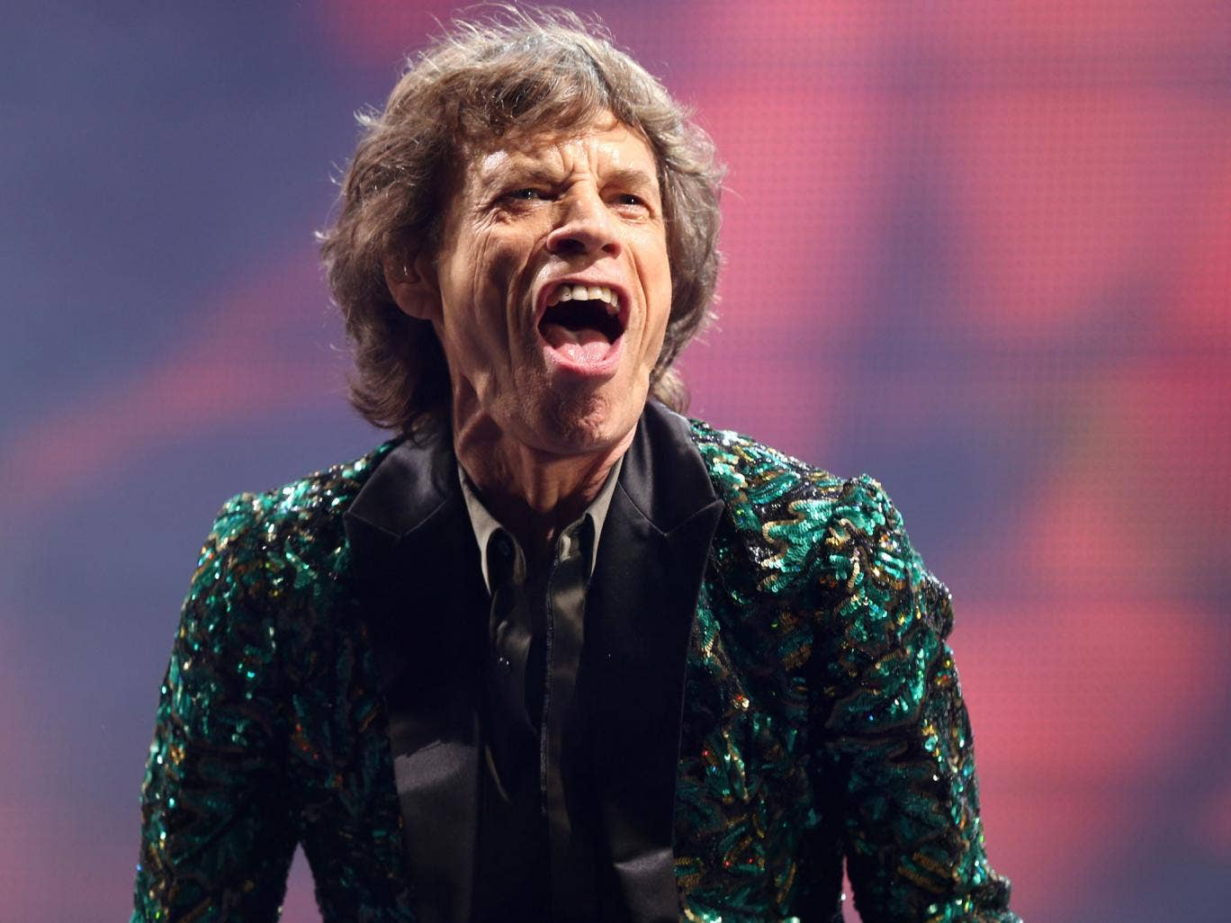 Mick Jagger performing at Glastonbury