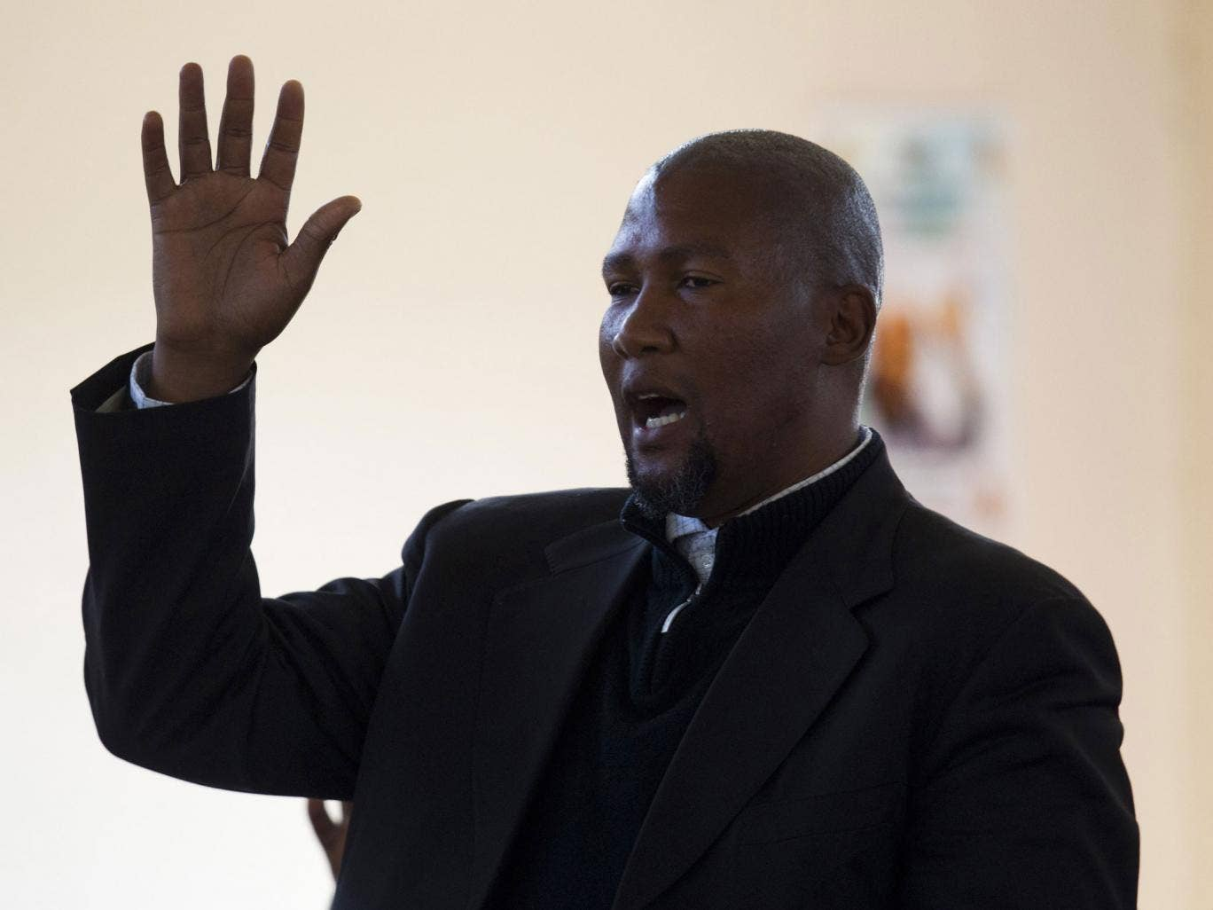 Mandla Mandela, pictured, had five of Nelson Mandela's dead relatives relocated to his own village in Mvezo. Other Mandela family members want them returned to Qunu