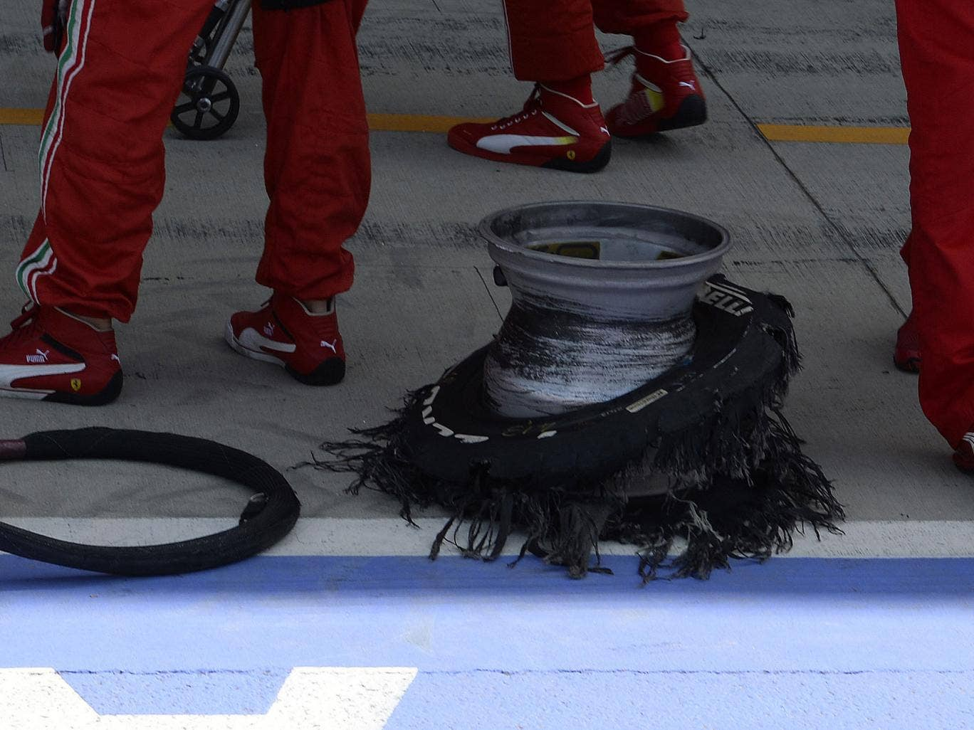 Pirelli said that the exploding tyres were 'unforeseen'
