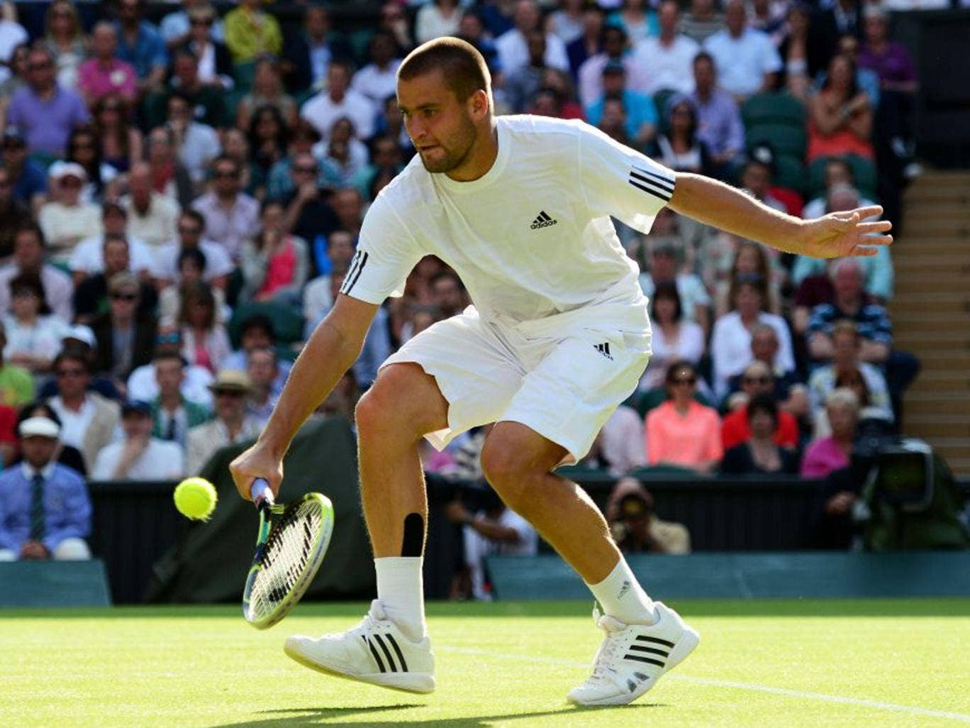 Mikhail Youzhny led 5-2 in the second but still lost the set