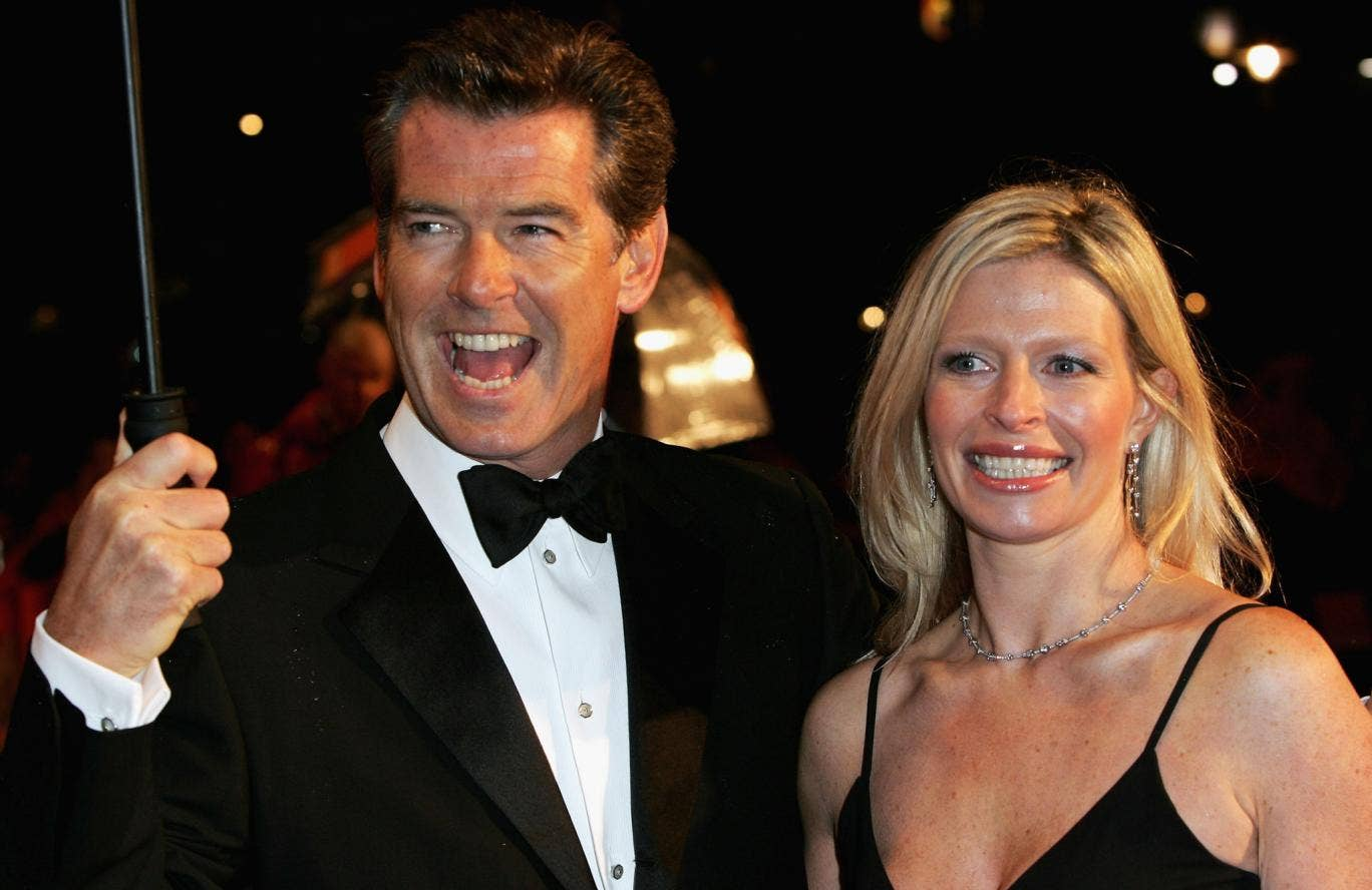 The actor Pierce Brosnan attending the Baftas accompanied by his daughter Charlotte in 2006. She has died aged 42 of cancer.