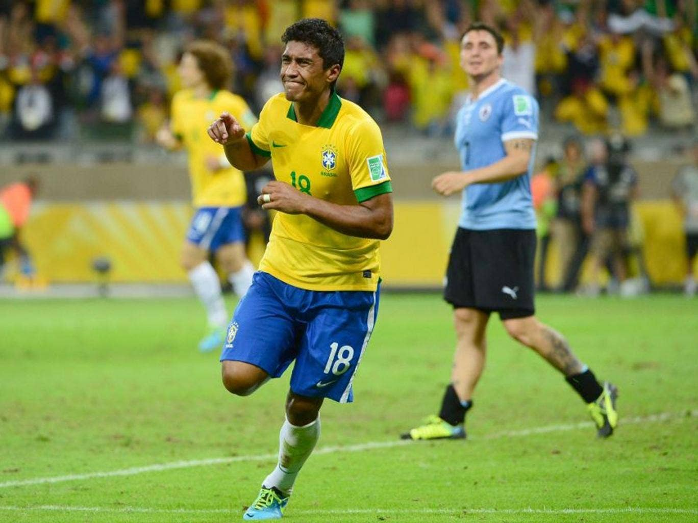 Paulinho was voted third-best player at the Confederations Cup