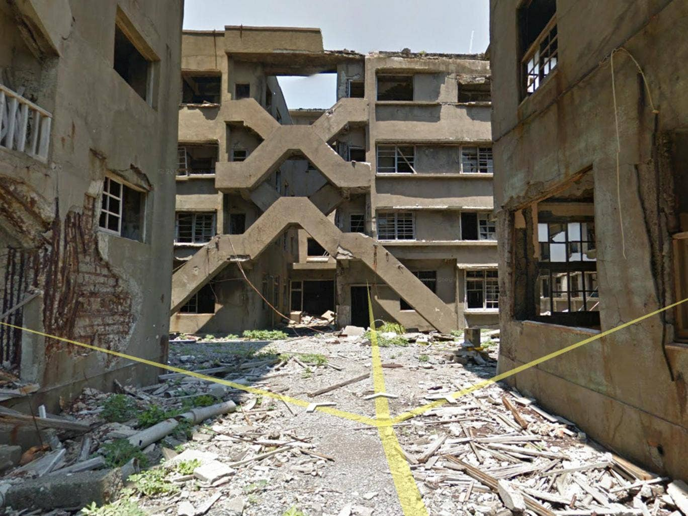 Hashima Island is a former industrial town that was abandoned after Mitsubishi closed the final remaining coal mine in 1974