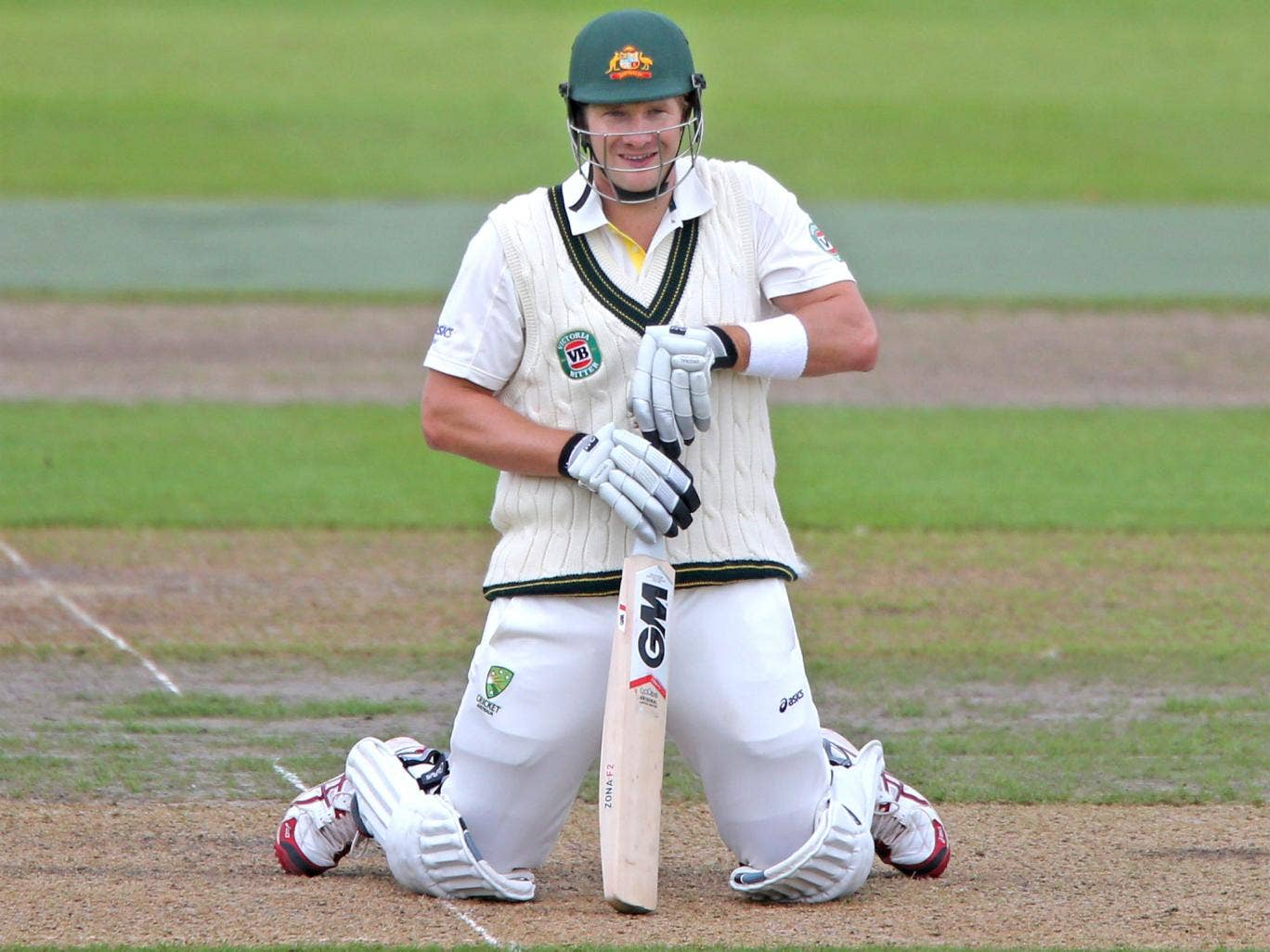 Shane Watson hit a century in Australia's final Ashes warm-up