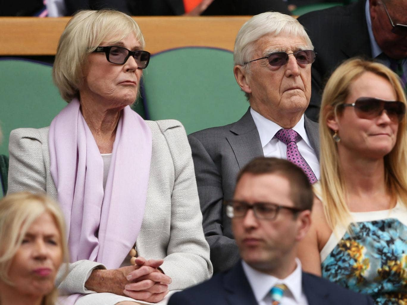 Michael Parkinson in the Wimbledon crowd