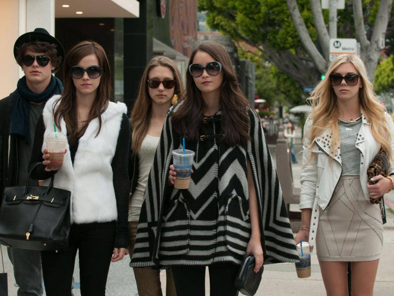 A scene from The Bling Ring, a film based on real-life events which took place in Calabasas