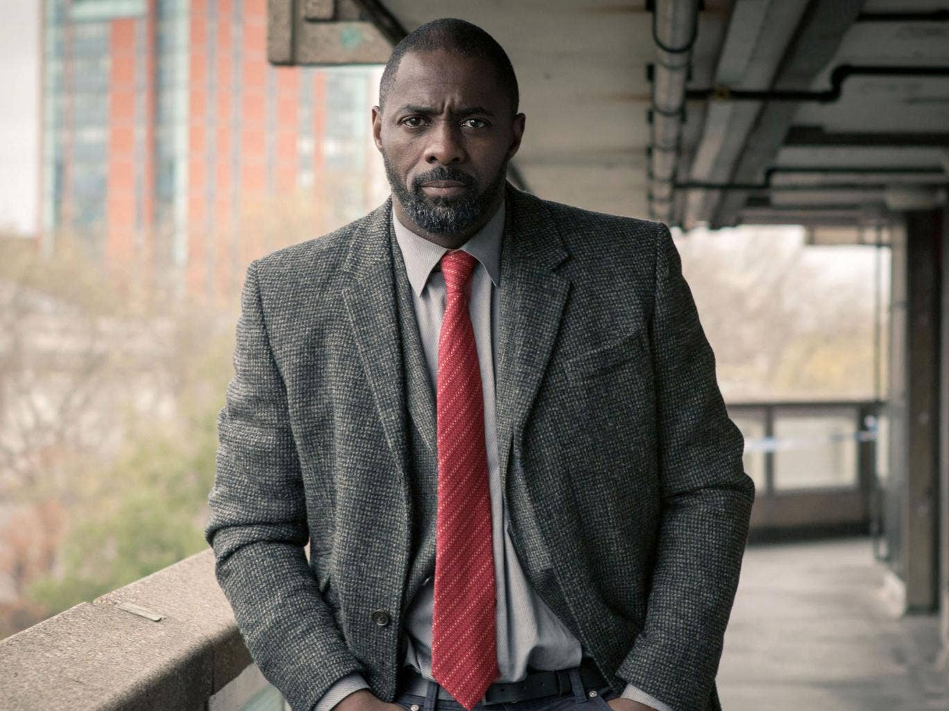 Look out: Broad shoulders take Idris Elba's DCI John Luther a long way