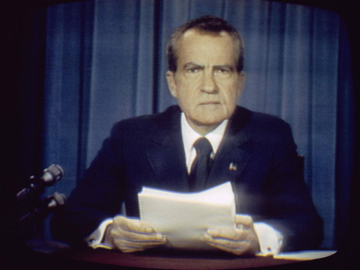 Easy eviction: Richard Nixon's violence-free removal was possible because the alternative left US society essentially unchanged