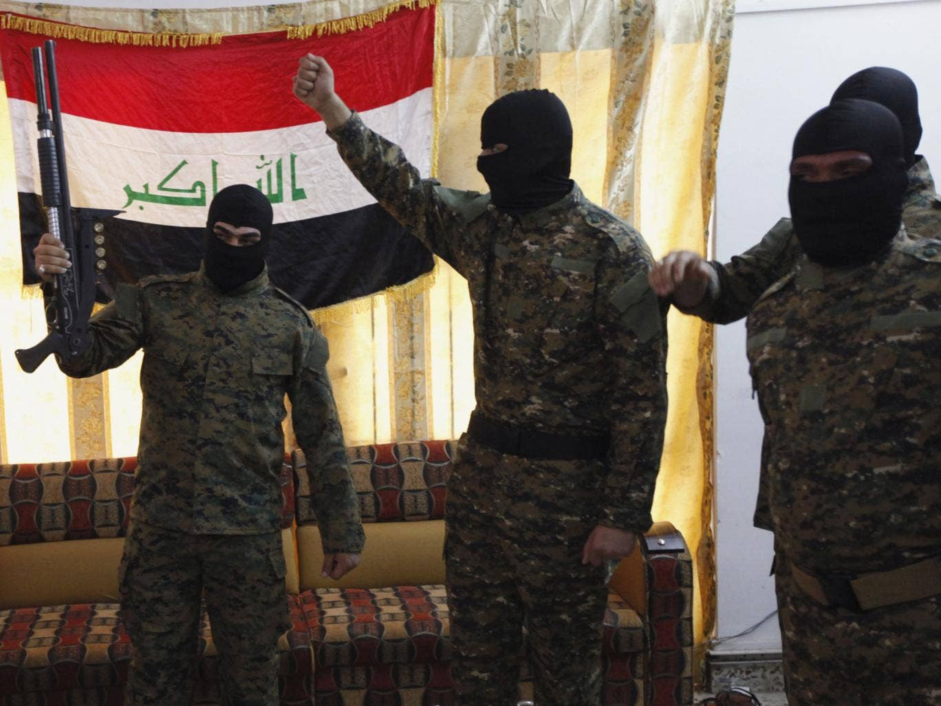 Jihadists from many countries – these are from Iraq – are travelling to Syria