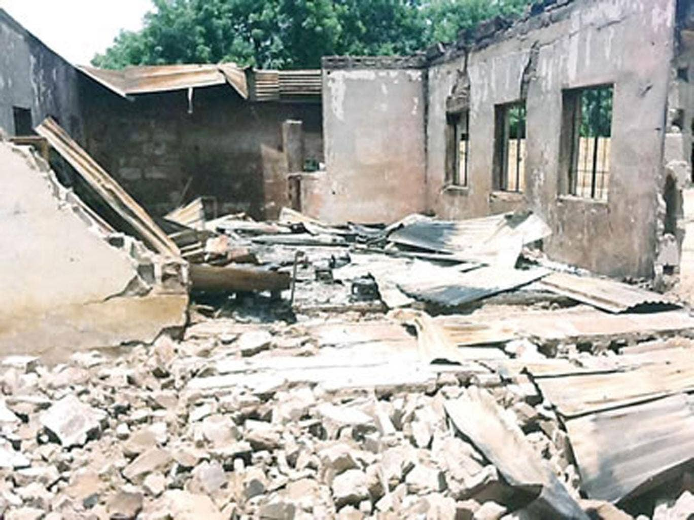 During the assault, Boko Haram Islamists marched students and staff into a dormitory, throwing explosive devices into the room with them. They then opened fire on the building and set it alight.
