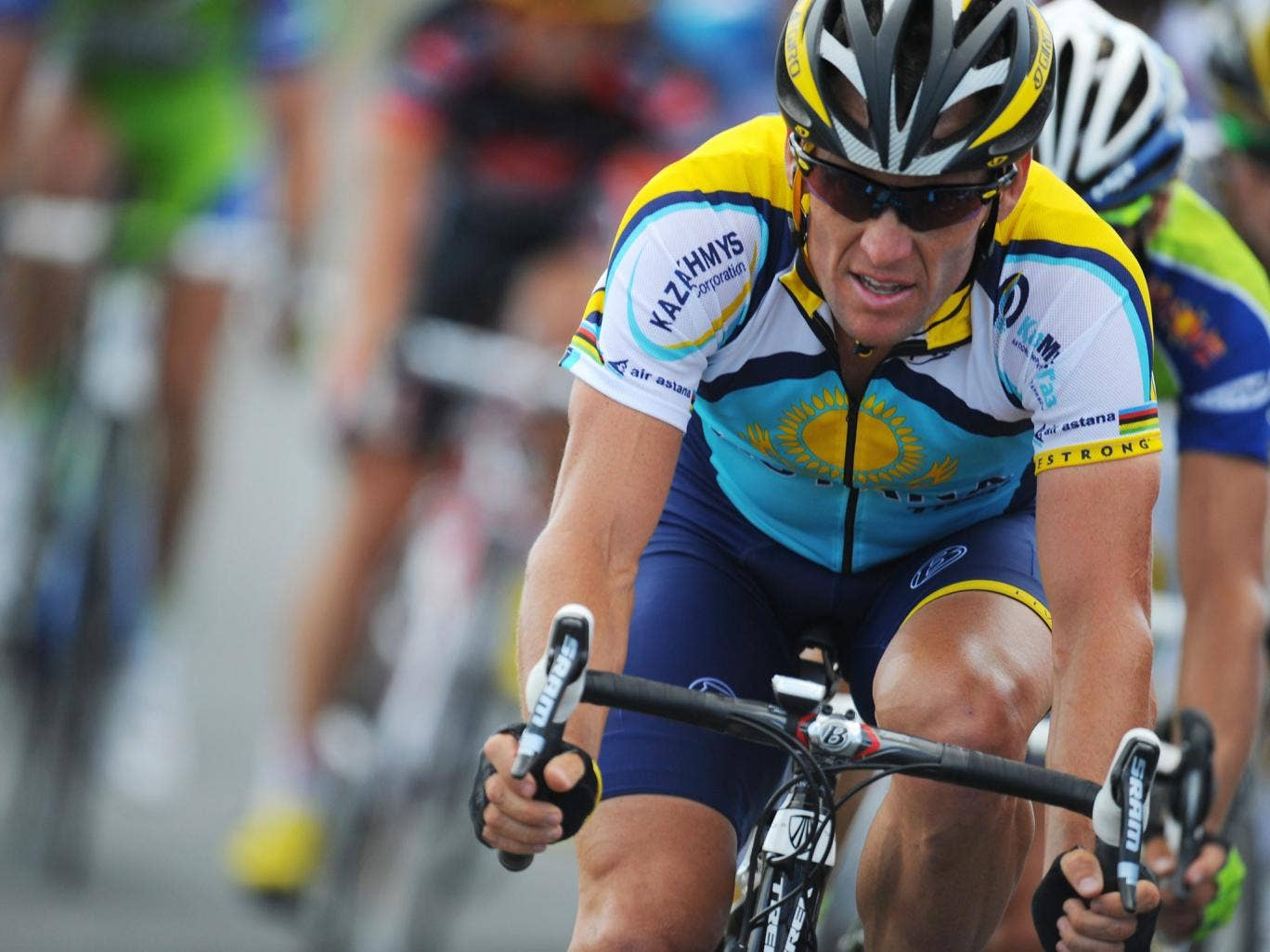 Lance Armstrong, pictured here on July 8, 2009, has announced a low-key return to the cycling circuit