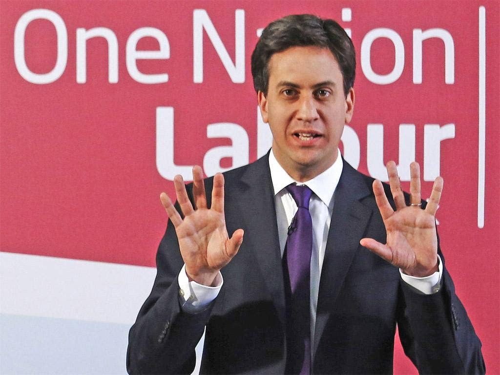 Raising the stakes: Labour leader Ed Miliband