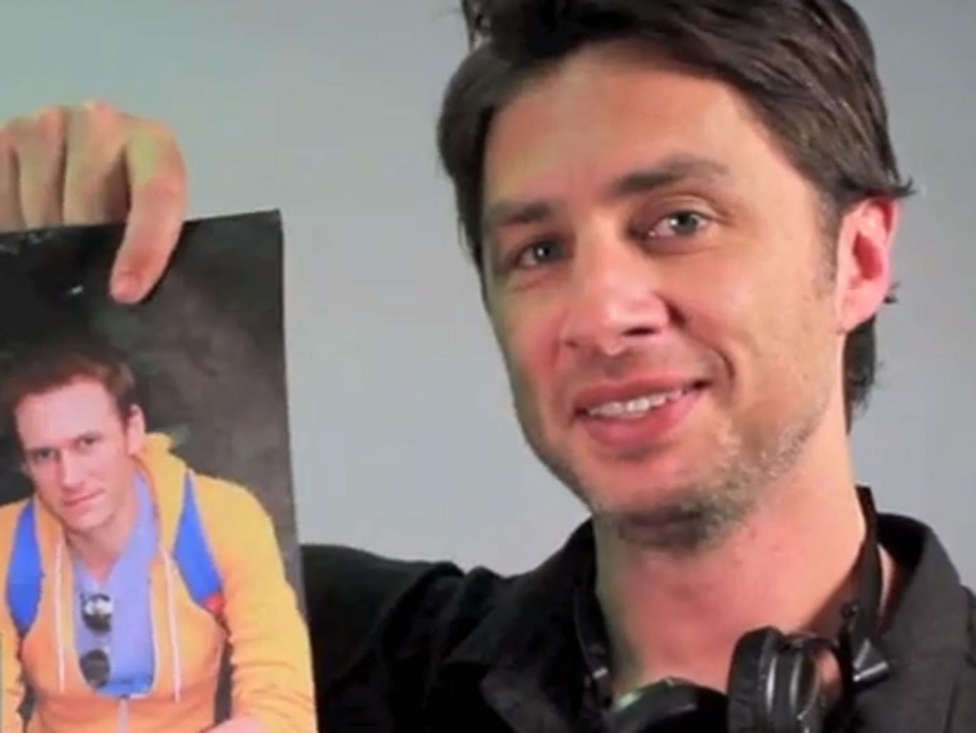 Zach Braff (right), starring in a proposal video for Matt Hulbert (left)