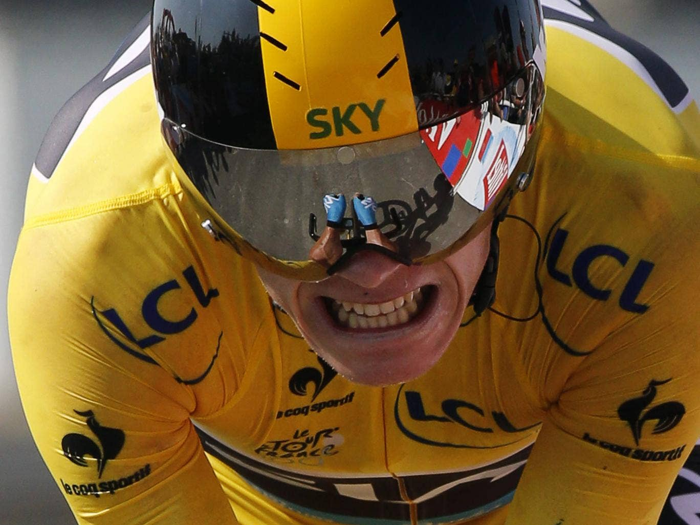 Chris Froome pictures on stage 11 of the Tour