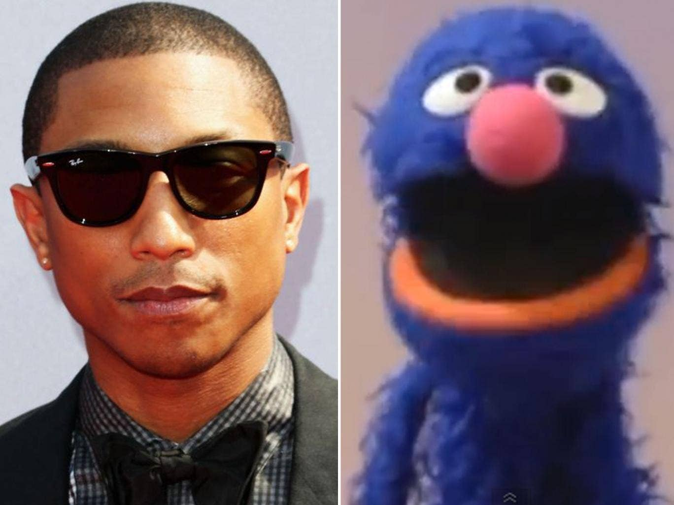 Get Lucky: Pharrell Williams and Grover from Sesame Street