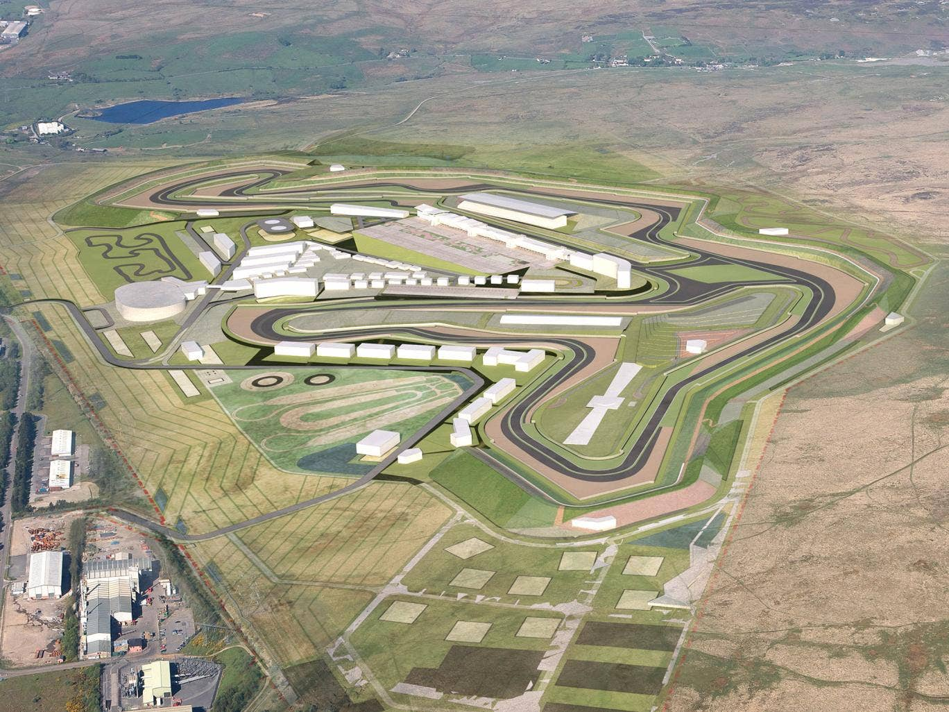 A computer generated illustration of how the Circuit of Wales will look