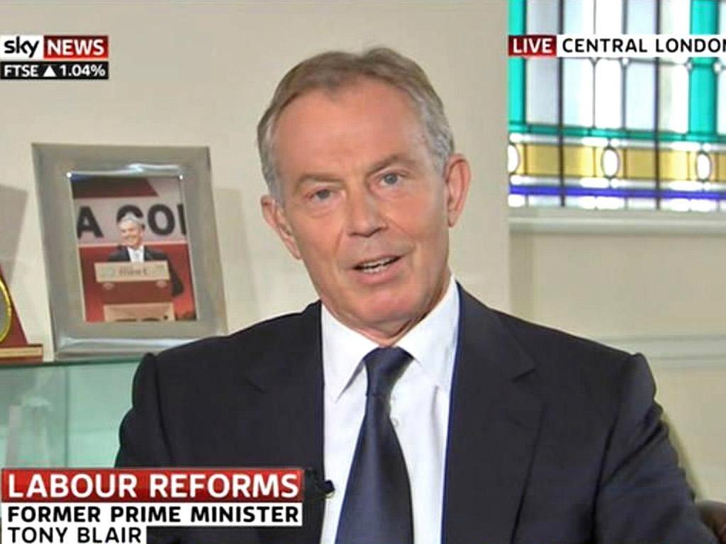 Tony Blair's double appearance on Sky News