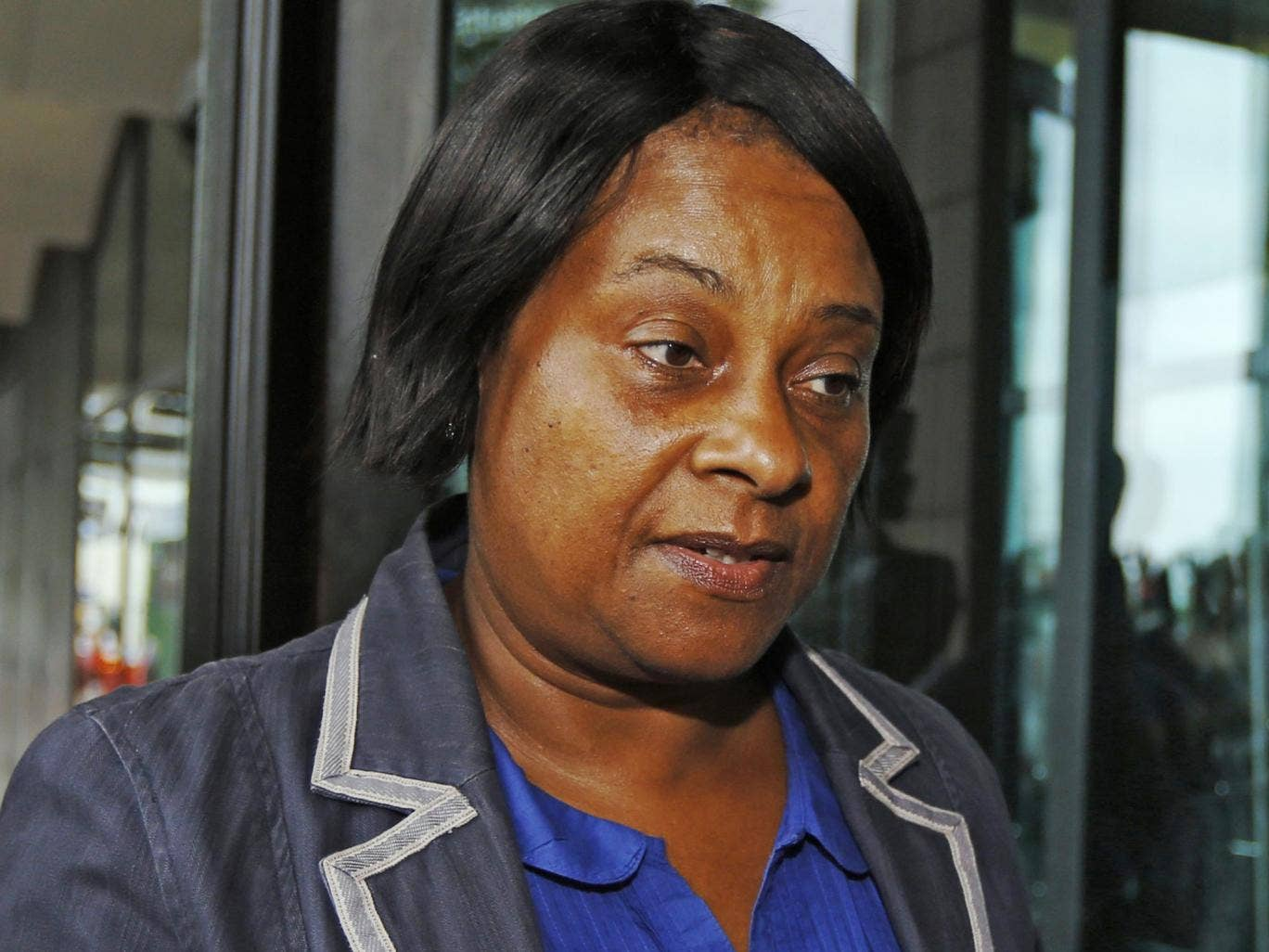 The mother of Stephen Lawrence, Doreen Lawrence, arriving at the Home Affairs Select Committee