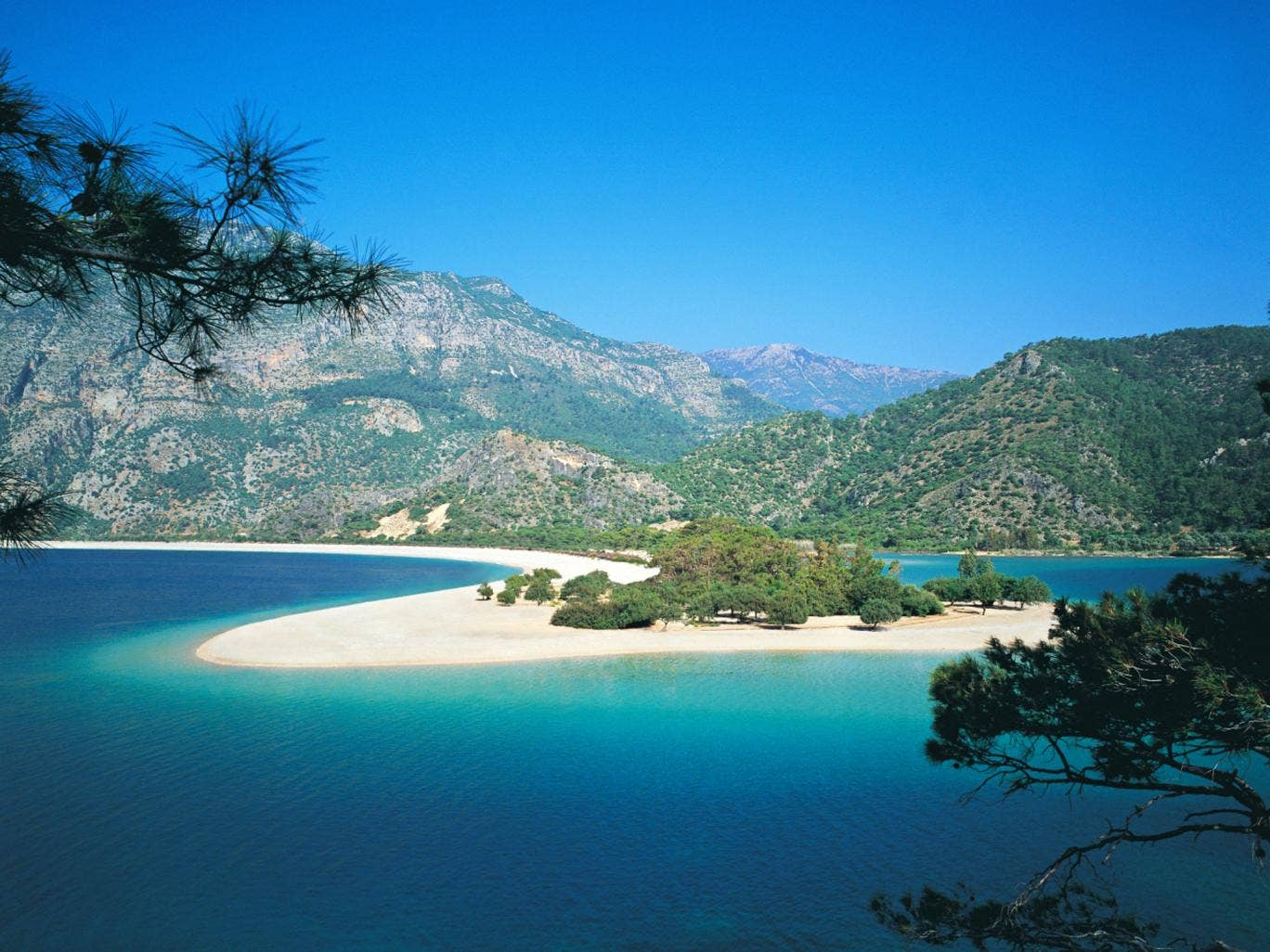 Sea here: Olu Deniz beach on Turkey's Mediterranean coast