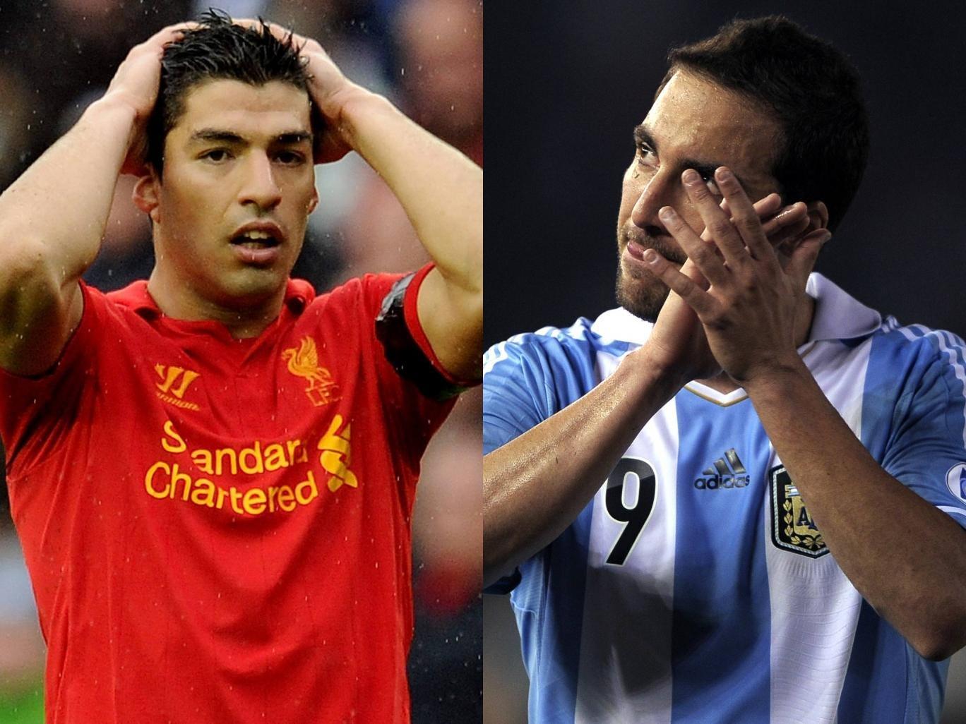 Luis Suarez and Gonzalo Higuain