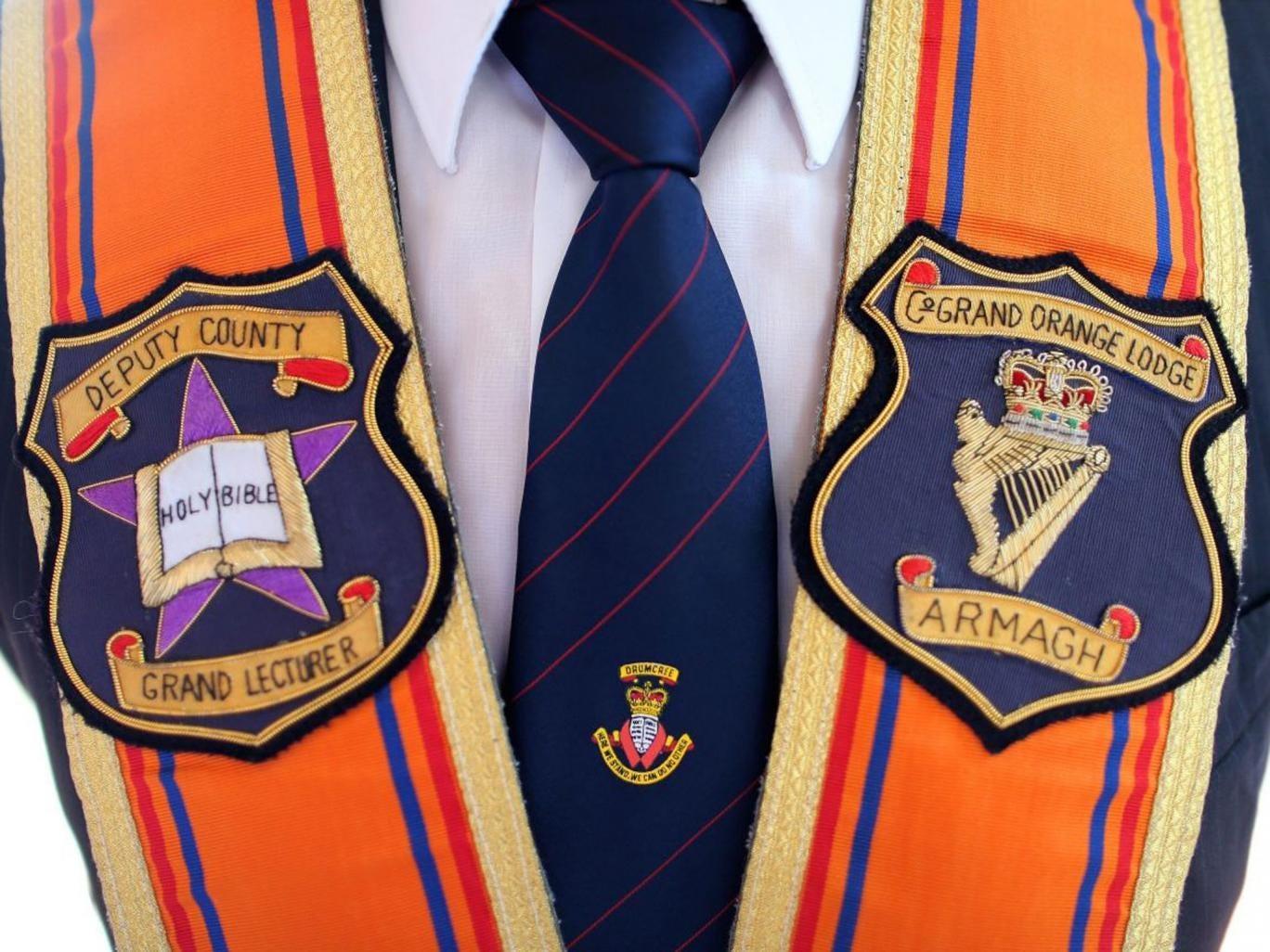 The Collerate of a  Portadown District Loyal Orange Lodge No 1 member in Drumcree