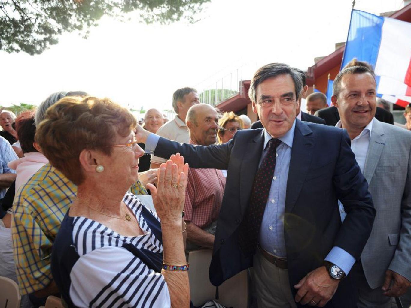 François Fillon in La Grande-Motte on Thursday
