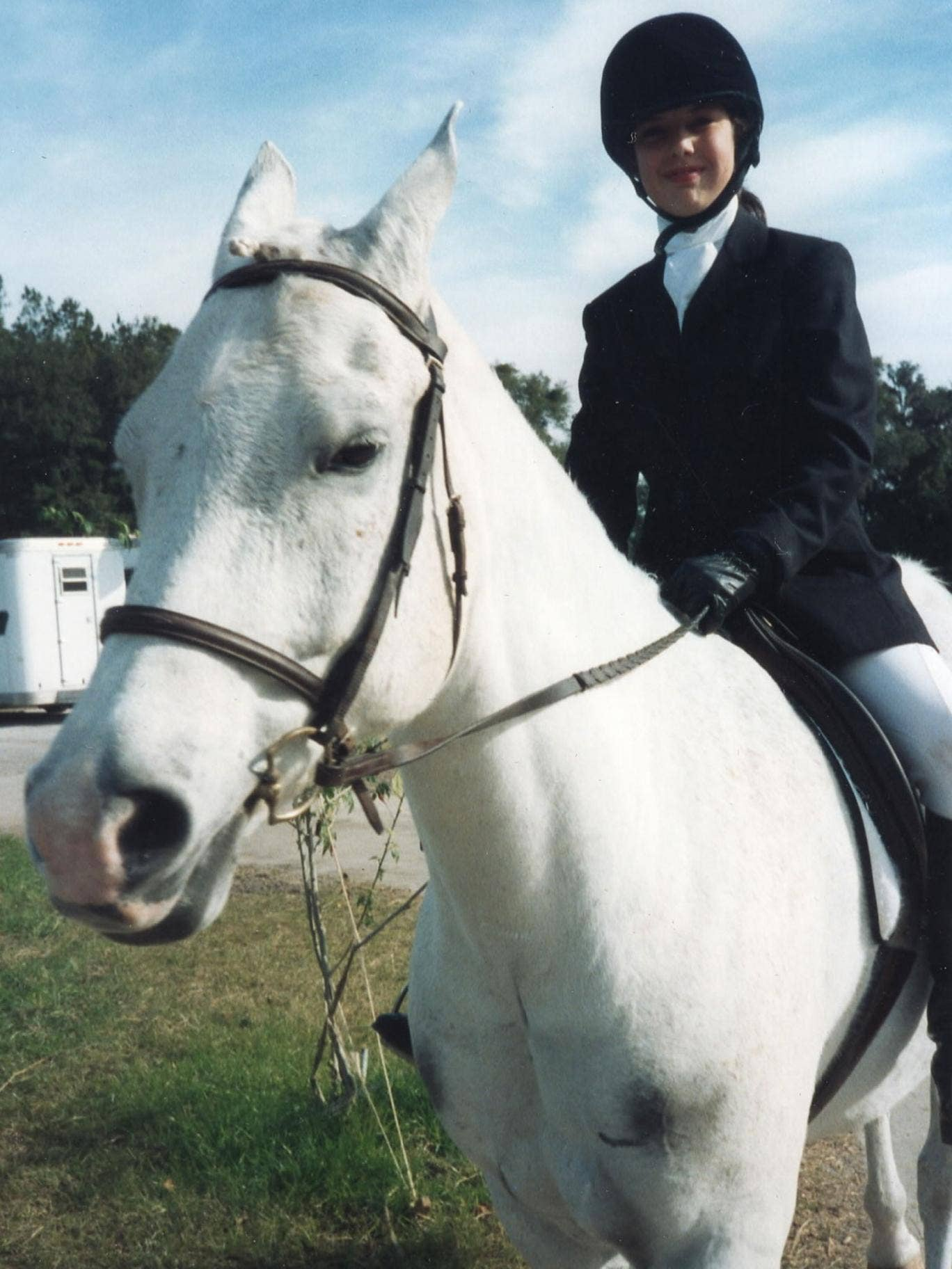 A young Anton DiSclafani with her pony – the author competed in US national competitions