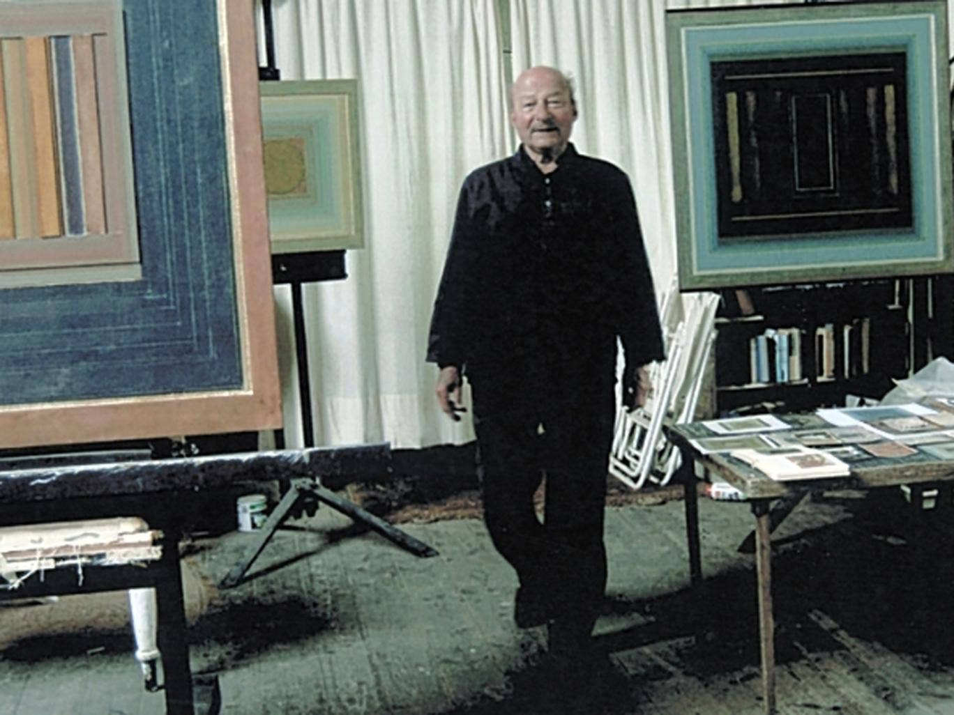 Feiler in his studio