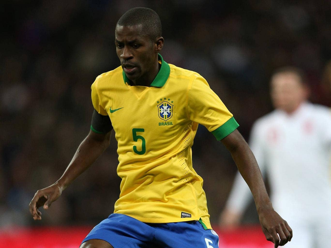 Ramires pictured playing for Brazil