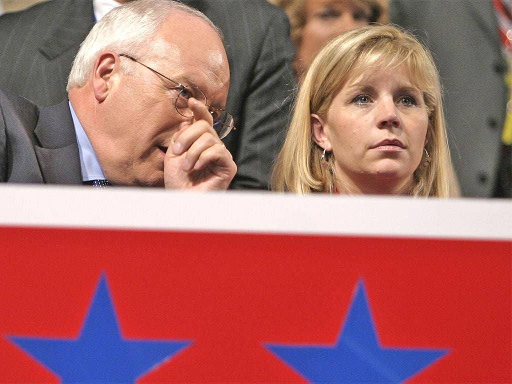 Former US Vice-President Dick Cheney with daughter Liz