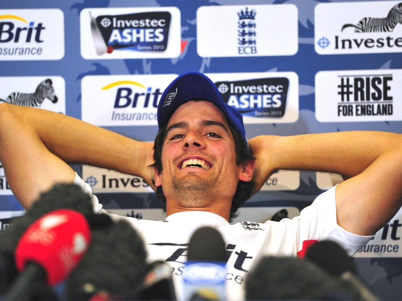 Alastair Cook was in a laid-back mood in Wednesday's press conference at Lord's