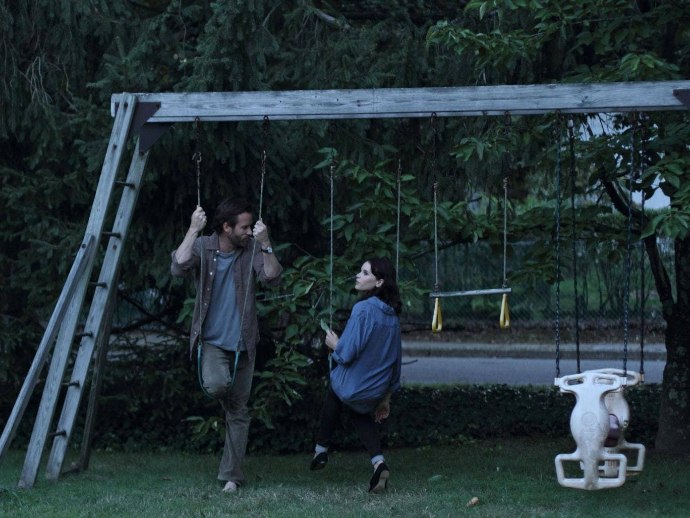 Leafy encounter: Guy Pearce and Felicity Jones give subtle performances in Drake Doremus's 'Breathe In'