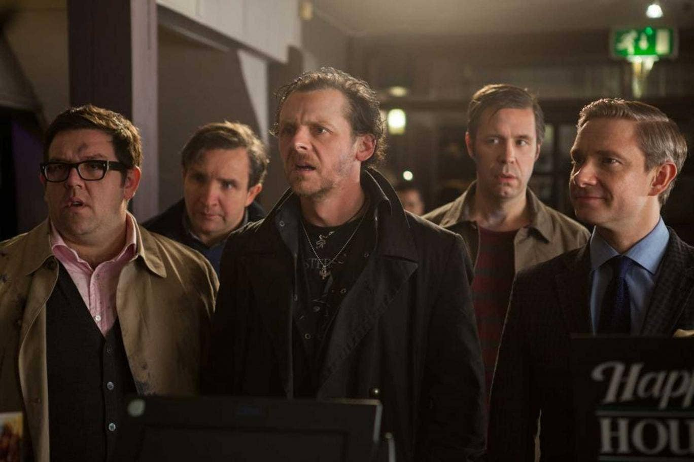 Crawl of the wild: Simon Pegg  leads the cast in Edgar Wright's science-fiction comedy, 'The World's End'