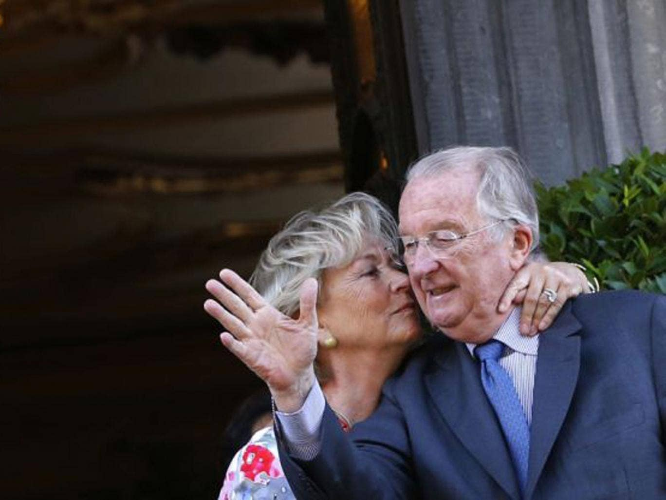 King Albert II and Queen Paola in Liège yesterday