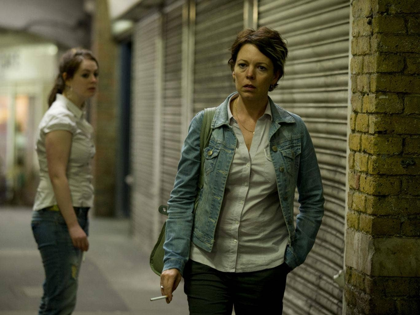 Street life: Olivia Colman as Carol, single mother to two thugs, in the first Run drama
