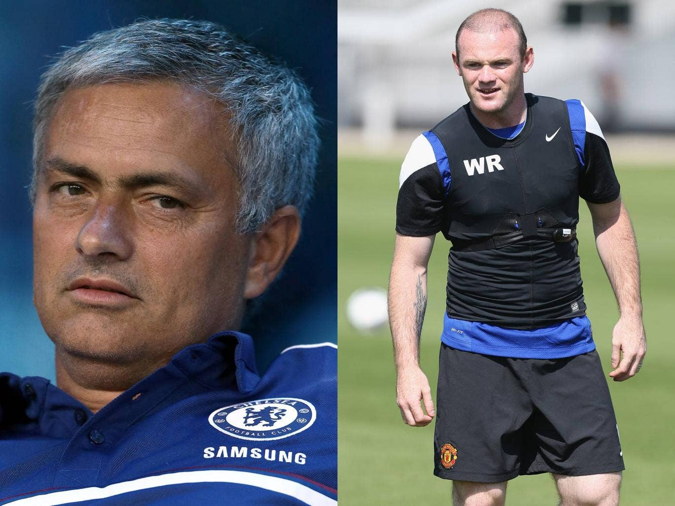 Jose Mourinho and Wayne Rooney