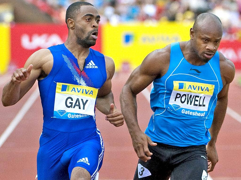 Tyson Gay and Asafa Powell failed drug tests earlier this month