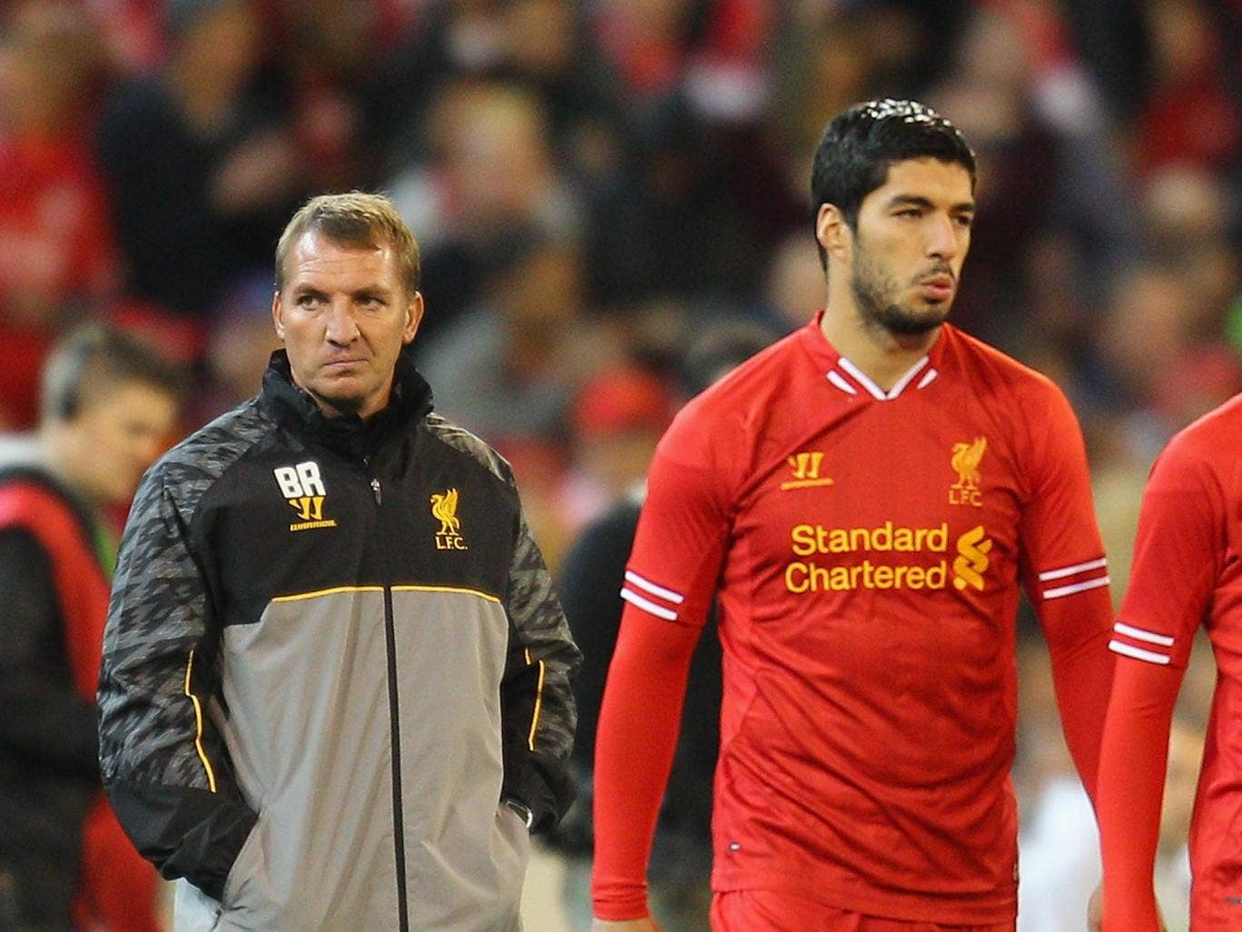 Luis Suarez and Brendan Rodgers in MelbourneG