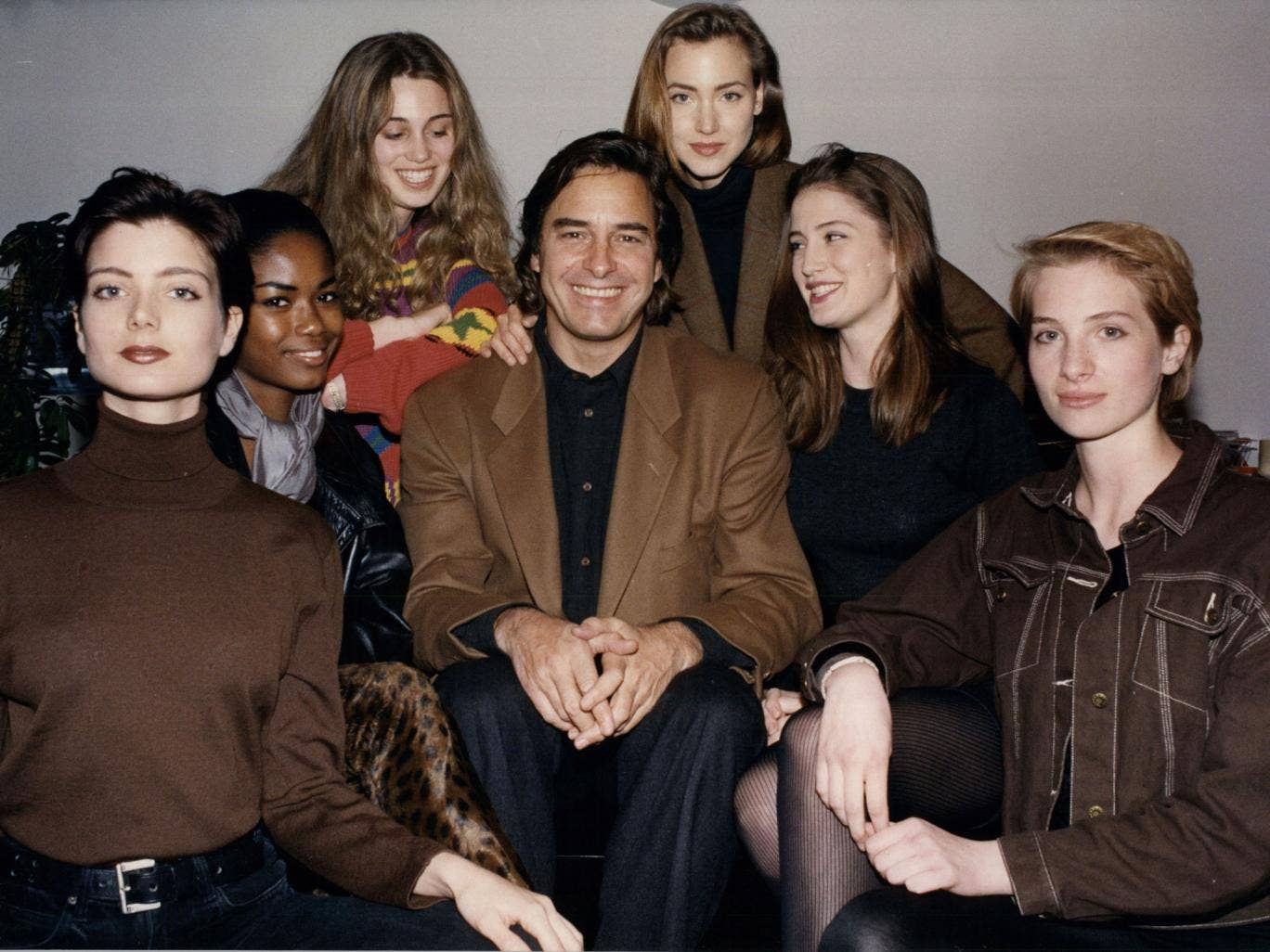 Casablancas in 1991 with some of his models; at Elite's peak it had 2,000 on its books