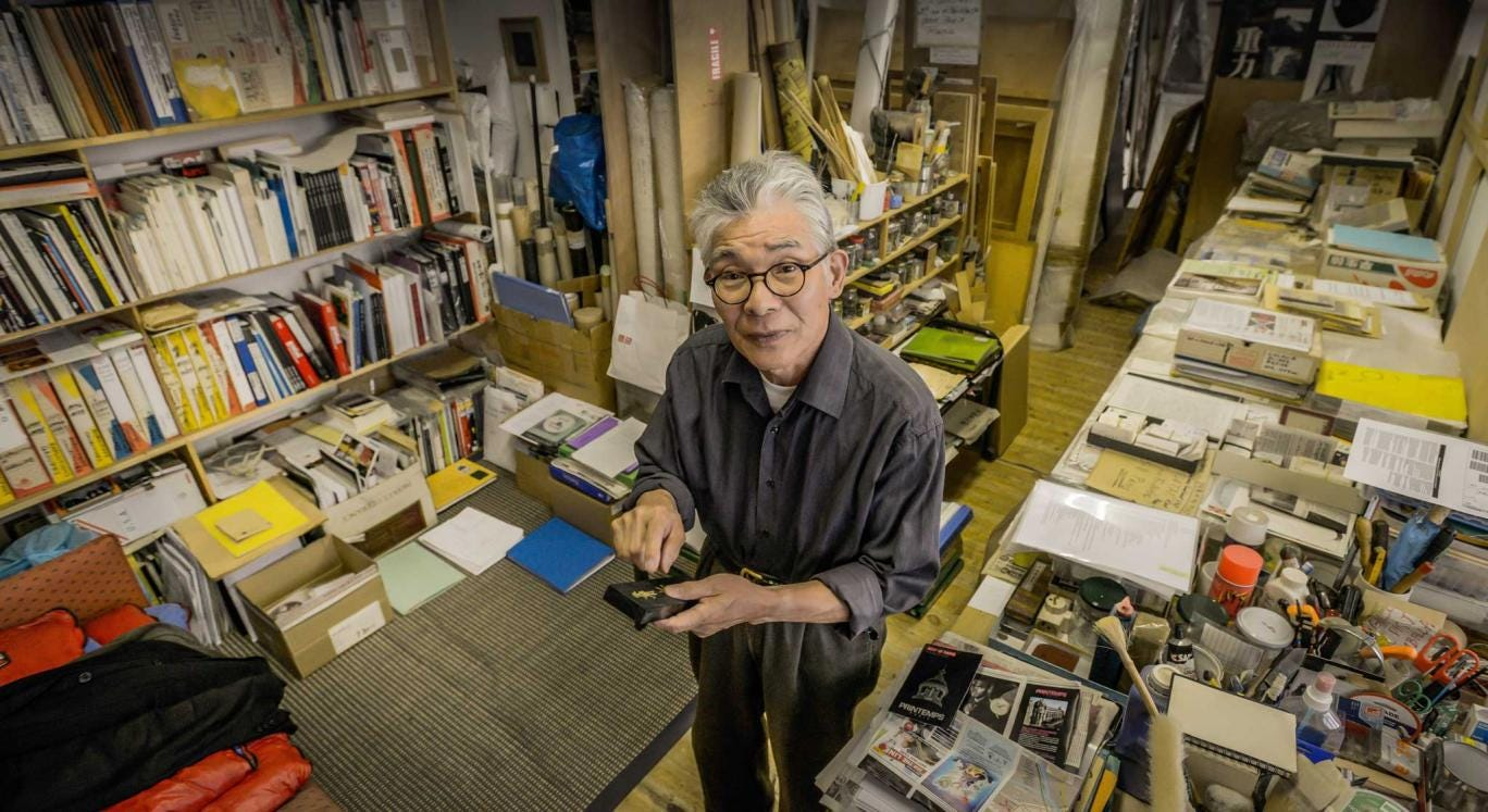 Simplicity out of chaos: Takesada Matsutani in his studio in the Bastille area of Paris