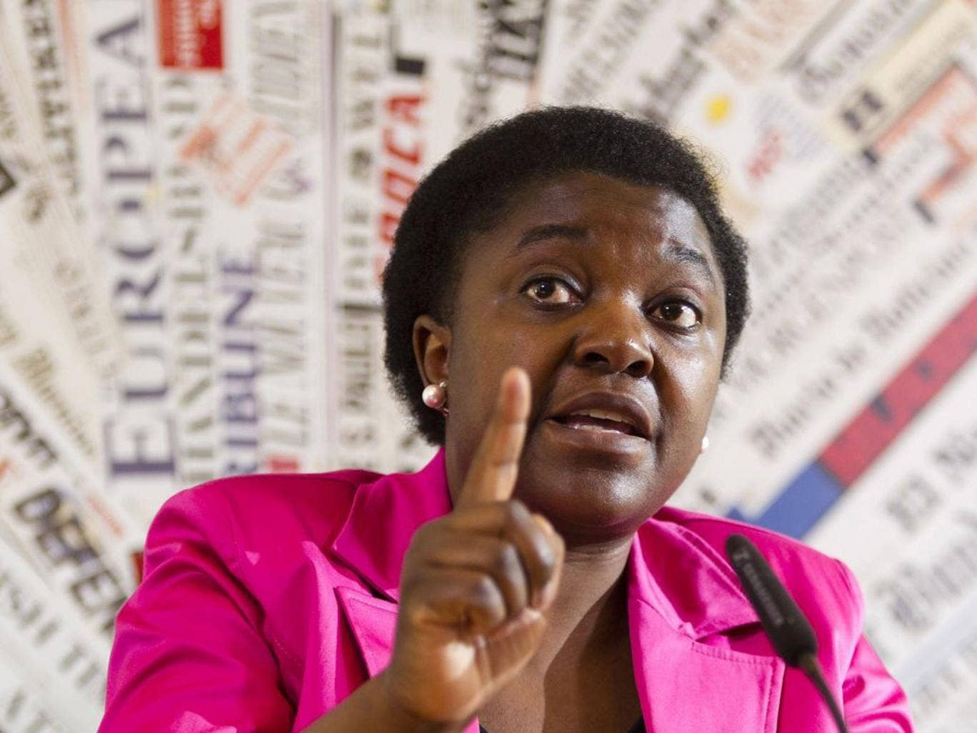 Kyenge, who is the minister for Integration, and is originally from the Democratic Republic of Congo, was speaking at a political rally Cervia in central Italy on Friday, when someone in the audience threw bananas towards the stage, narrowly missing it.
