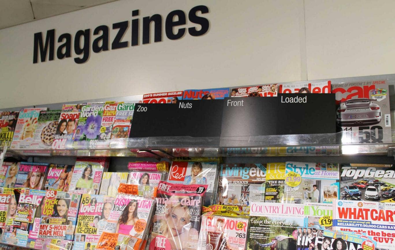 How 'lads' mags' are currently sold the Co-operative's stores