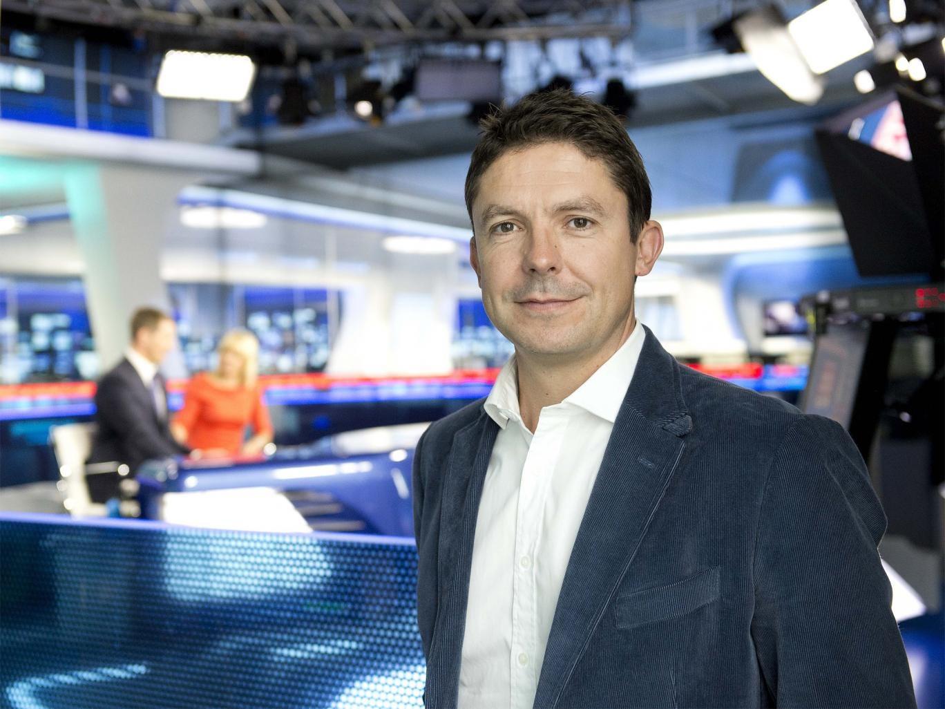 Sky Sports managing director Barney Francis down on the studio floor