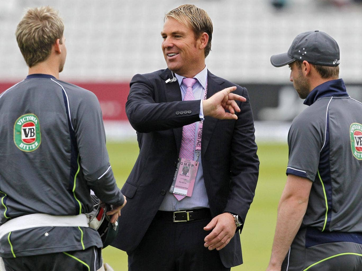 Australian greats have only been able to pass on tips during media work